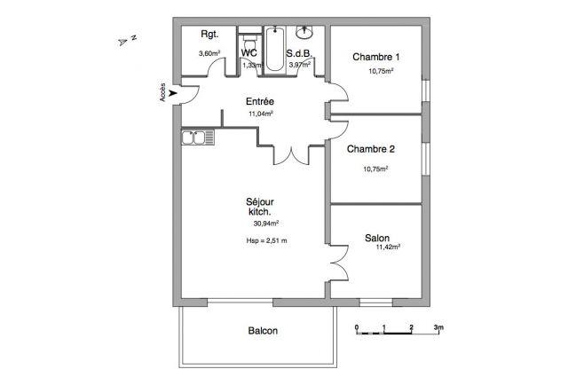 Appartement à louer sur Peron