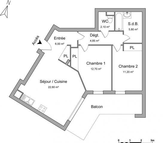 Appartement à louer sur Marcy L Etoile