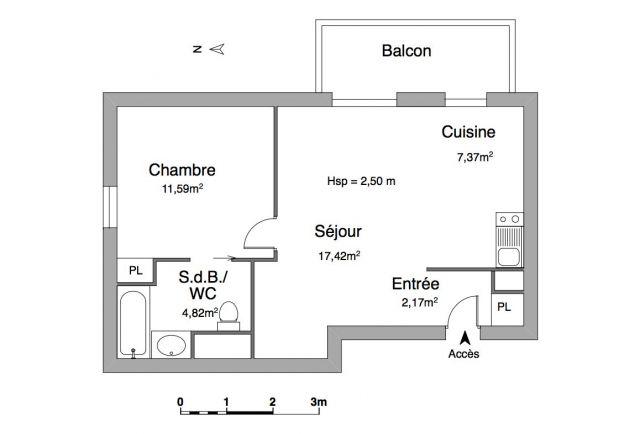Appartement à louer sur La Chaussee Saint Victor