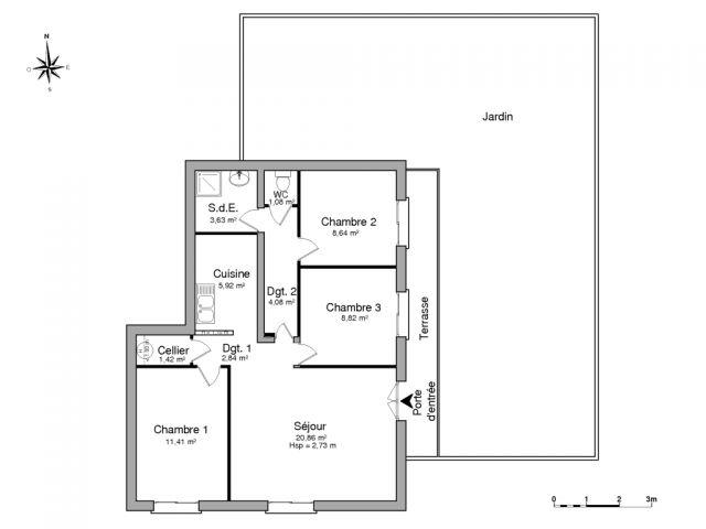 appartement à louer sur cavalaire