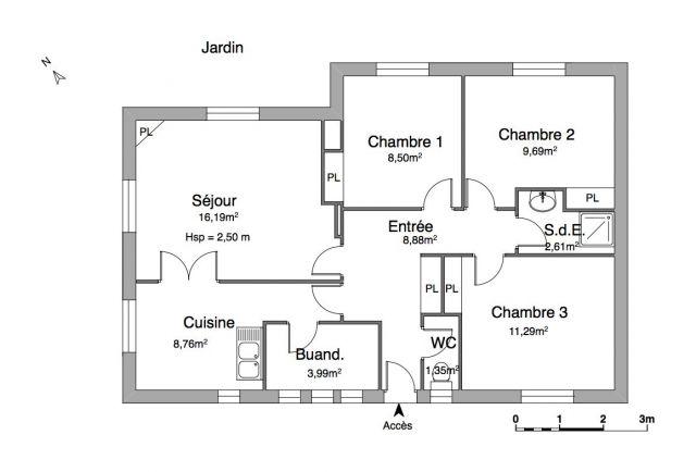 Maison 4 pièces à louer