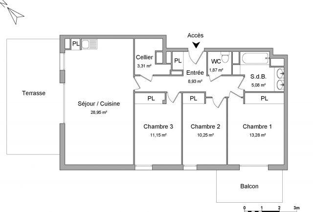 Appartement à louer sur Tournefeuille