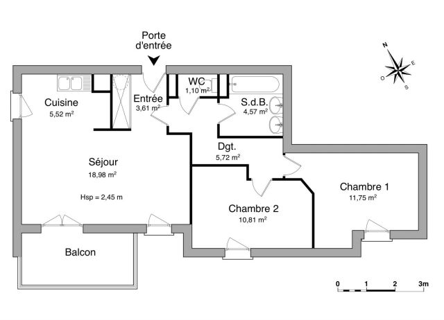 Appartement à louer sur Pradines