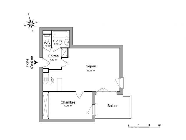 Appartement à louer sur Colomiers