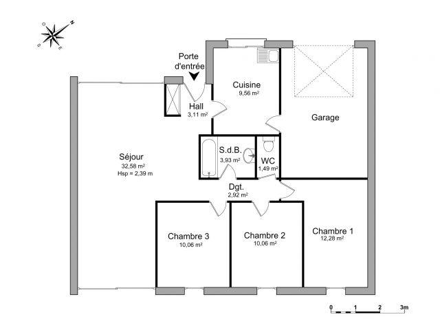 Maison à louer sur Meucon