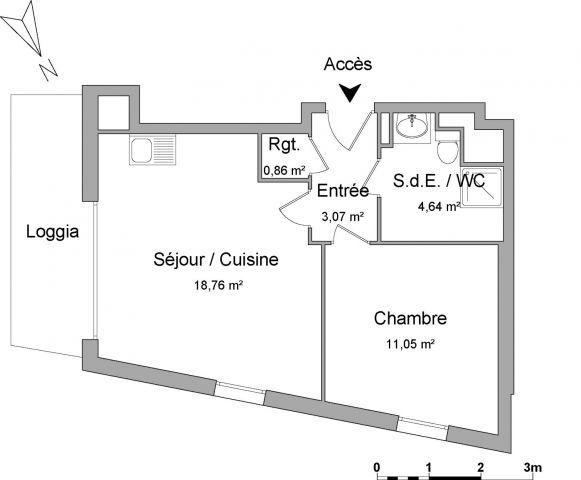 Appartement à louer sur Cergy Saint Christophe
