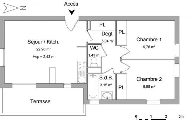 Appartement à louer sur Onet Le Chateau