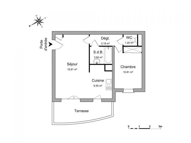 Appartement à louer sur Bourg-les-valence