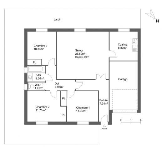Maison à louer sur Nimes