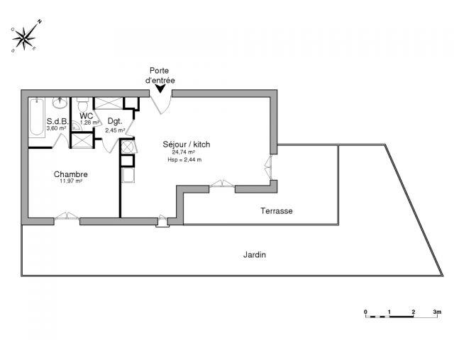 Appartement meublé à louer sur Cavalaire Sur Mer