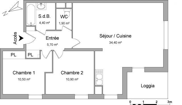 appartement à louer sur viry